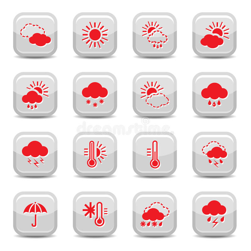 Download Weather Icon Set Royalty Free Stock Photography - Image: 26897317