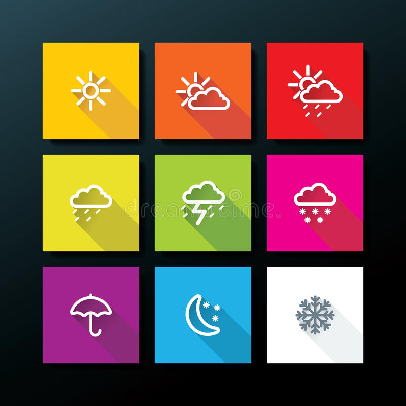 Free Weather Icon Set Stock Photos - 37639123