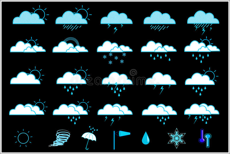 weather icon set stock photography