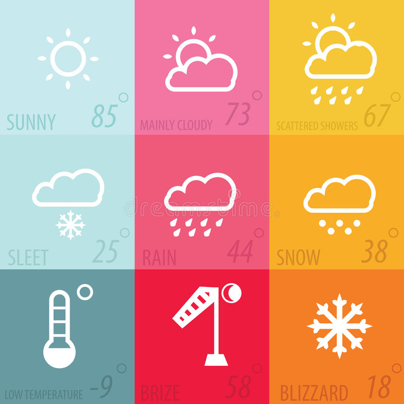 Weather icon set. With definition,modern illustraion royalty free illustration