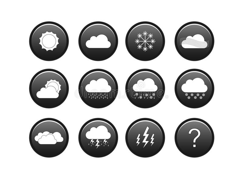 Download Weather icon set stock vector. Image of snowy, cloudy - 32277106