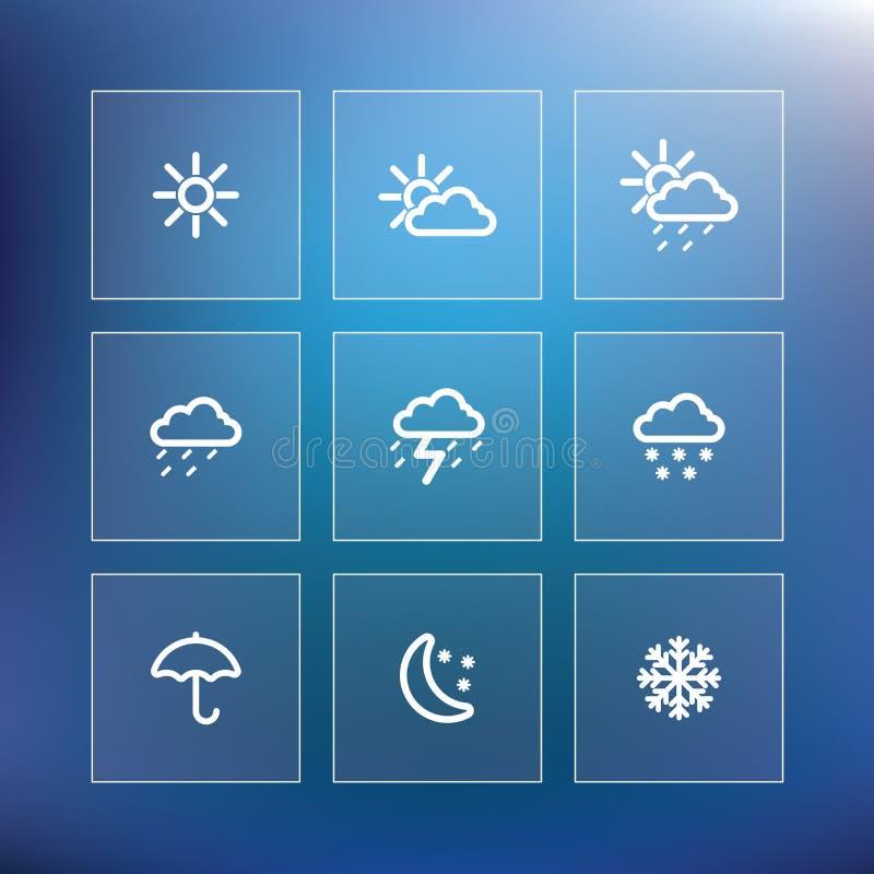 Download Weather icon set stock illustration. Image of lightning - 37639168