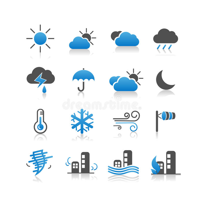 Weather icon set royalty free illustration