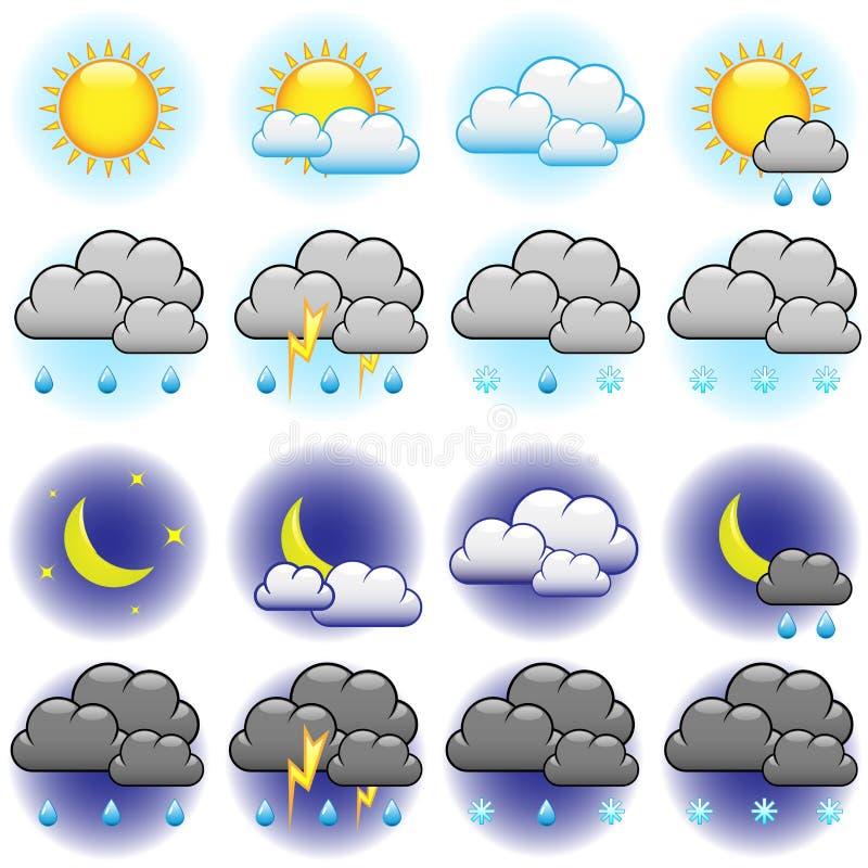Weather icons royalty free illustration