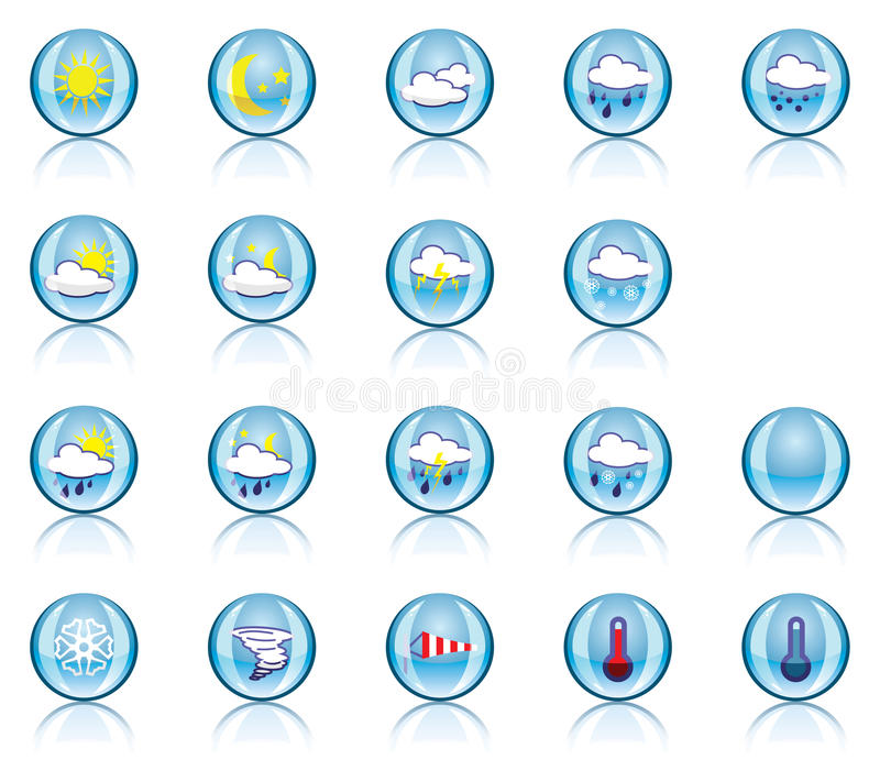 Download Weather icons stock vector. Image of circle, autumn, objects - 12419852