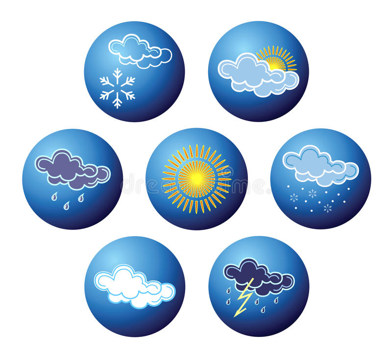 Weather icons. royalty free illustration