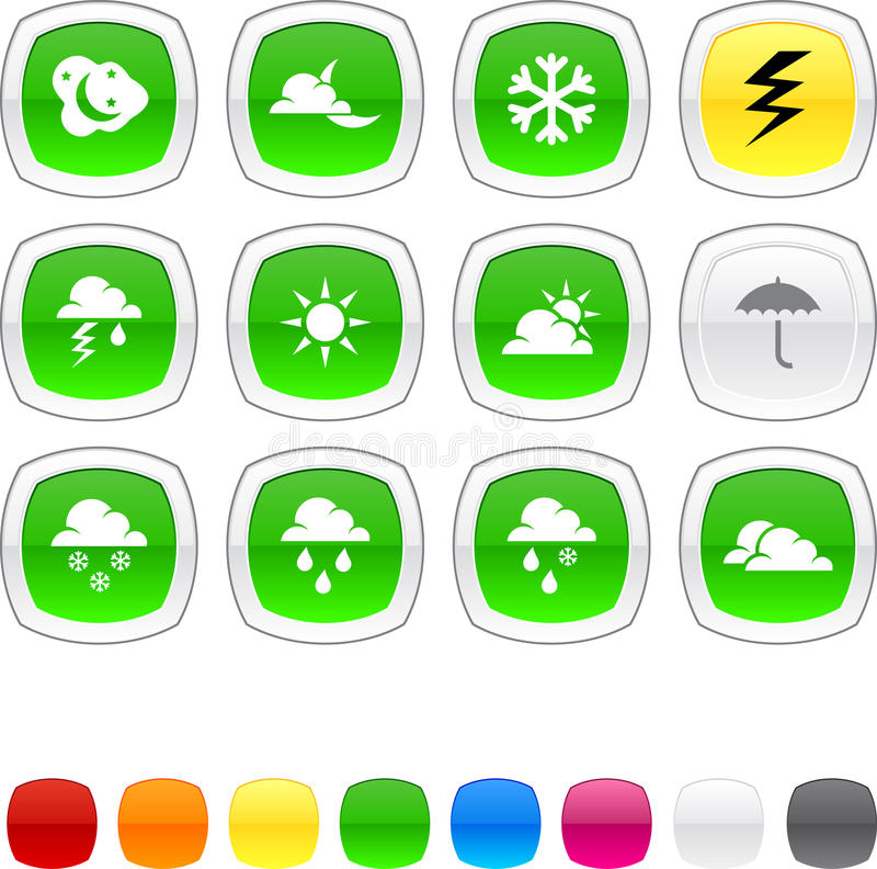 Download Weather Icons. Stock Images - Image: 13651154