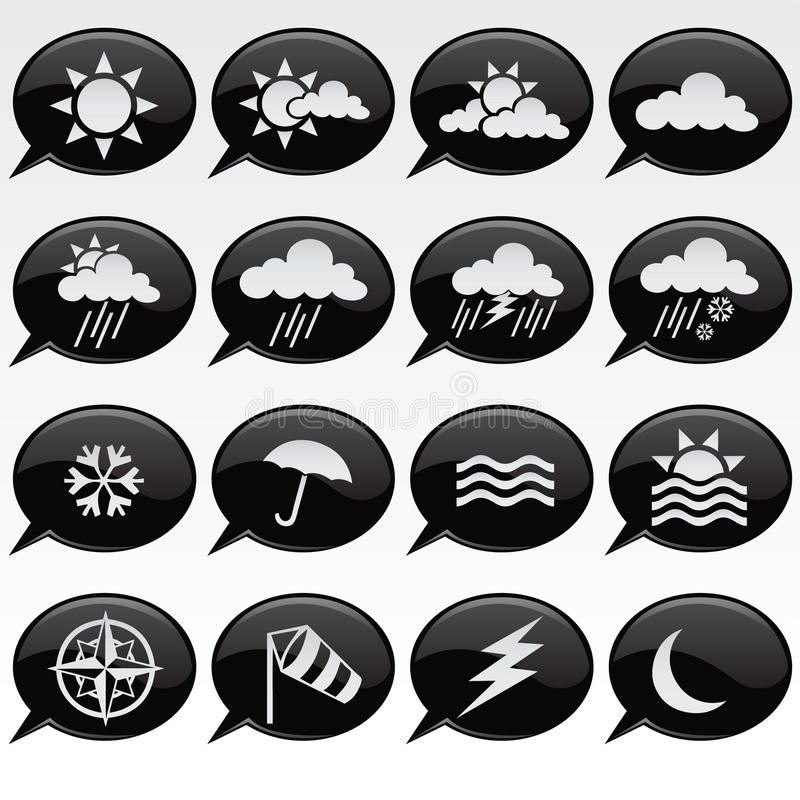 Download Weather Icons stock vector. Image of element, globe, climate - 13786327