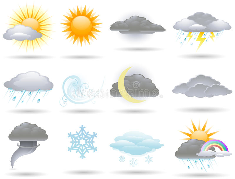 Download Weather icons stock vector. Image of media, tornado, lightning - 14478970