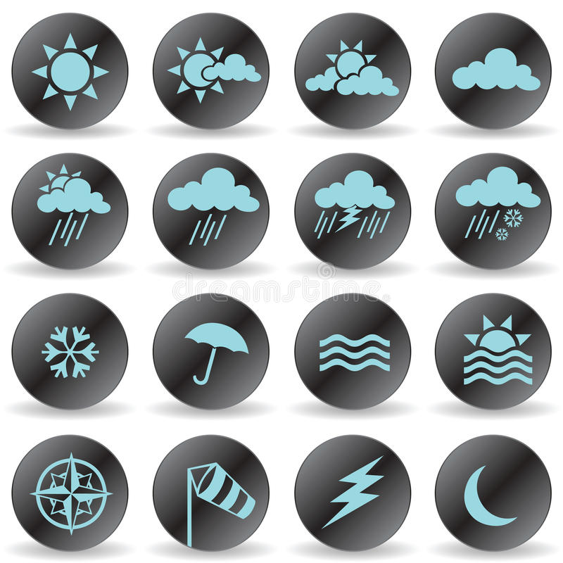 Download Weather Icons stock vector. Illustration of snowflake - 14604299