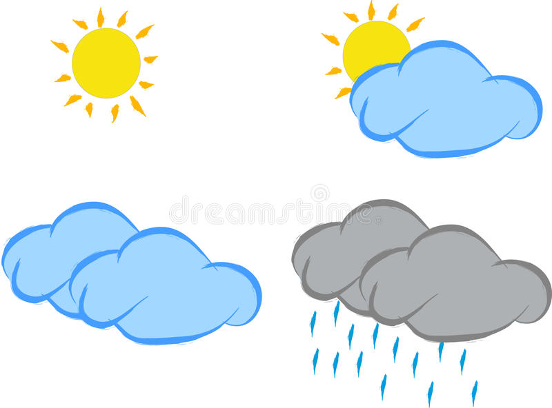 Download Weather icons stock vector. Image of cloudscape, drop - 14994576