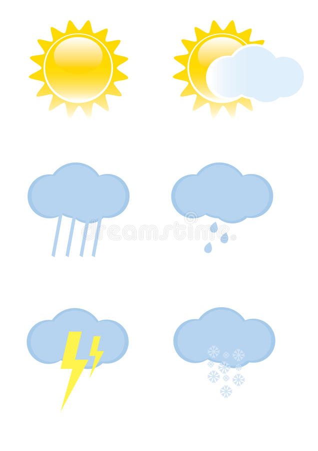 Download Weather icons stock vector. Image of snowflake, blue - 15654782