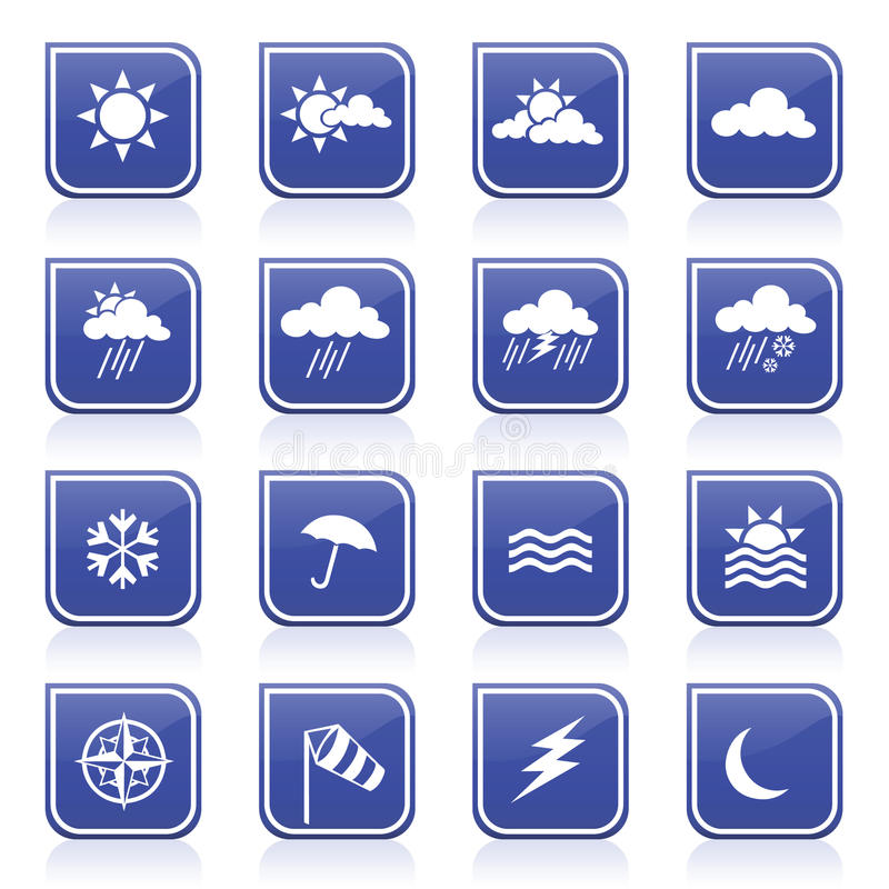 Download Weather Icons stock vector. Illustration of forecast - 15717108
