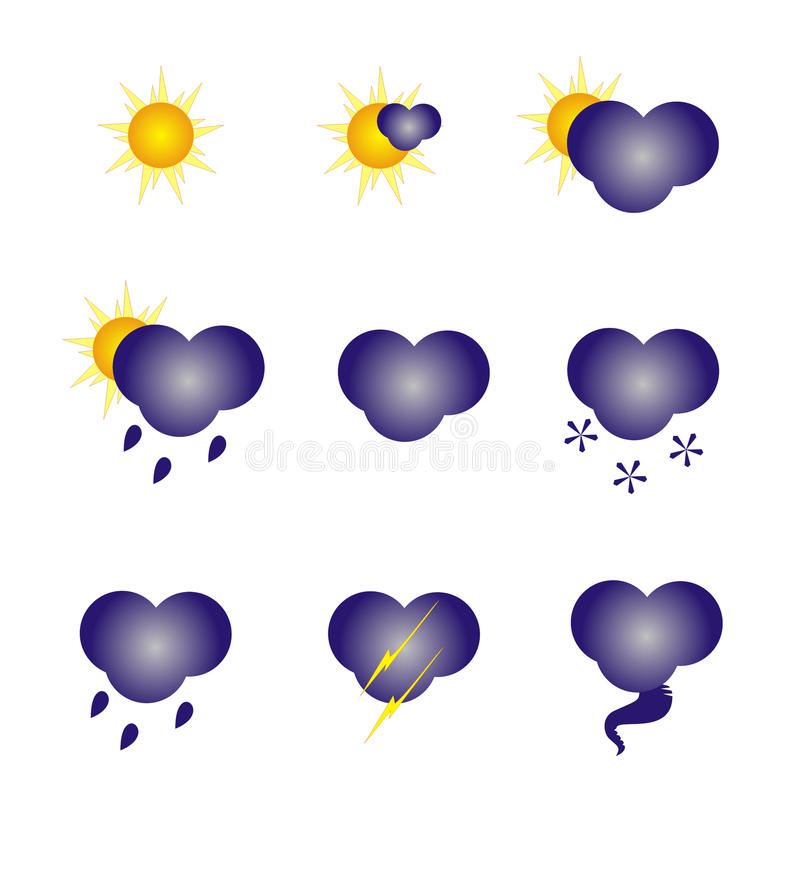 Download Weather icons stock vector. Image of forecasting, forecast - 15857211
