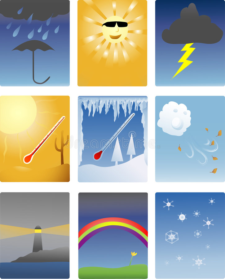 Free Weather Icons Royalty Free Stock Photos - 1660188