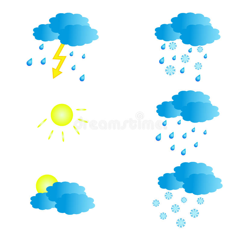 Download Weather Icons stock vector. Illustration of drop, illustration - 16993697