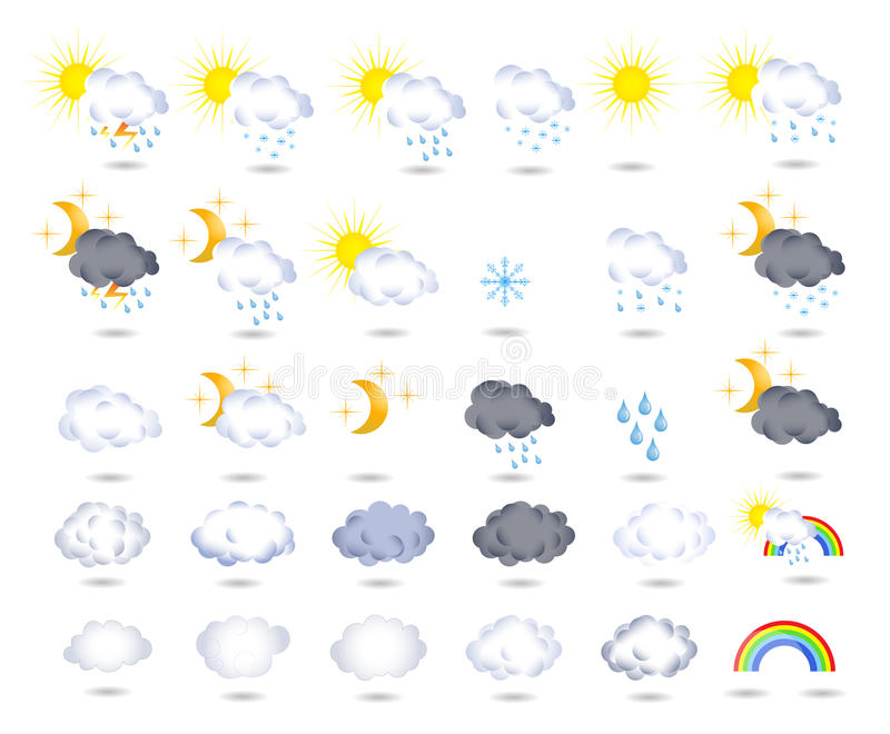 Weather icons vector illustration