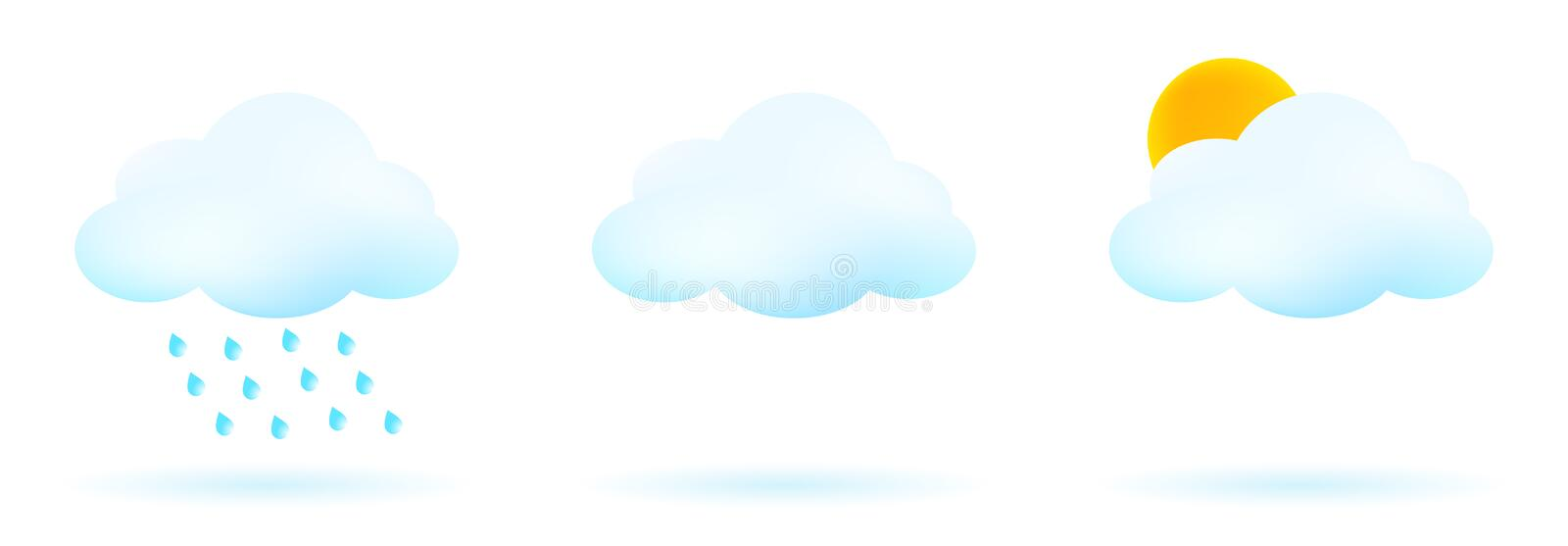 Download Weather icons stock vector. Illustration of cloud, forecast - 19155130