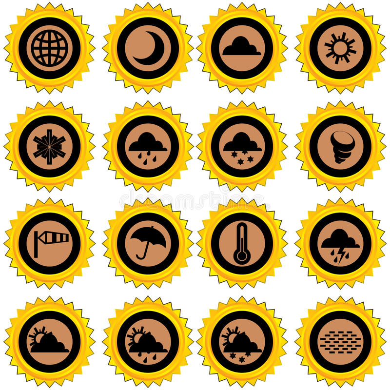 Download Weather icons stock vector. Illustration of image, simple - 19547740