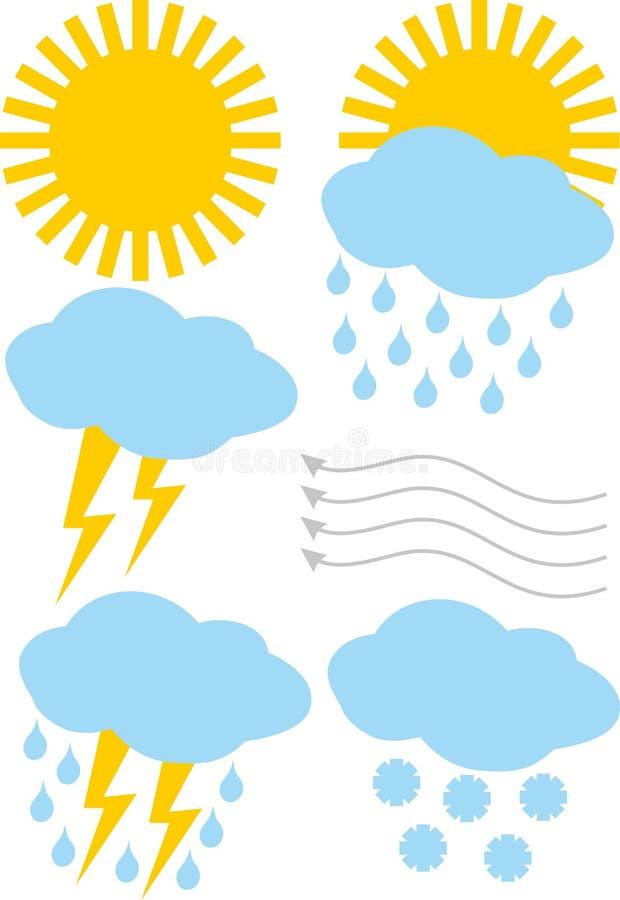 Weather icons. Set graphic illustration vector illustration