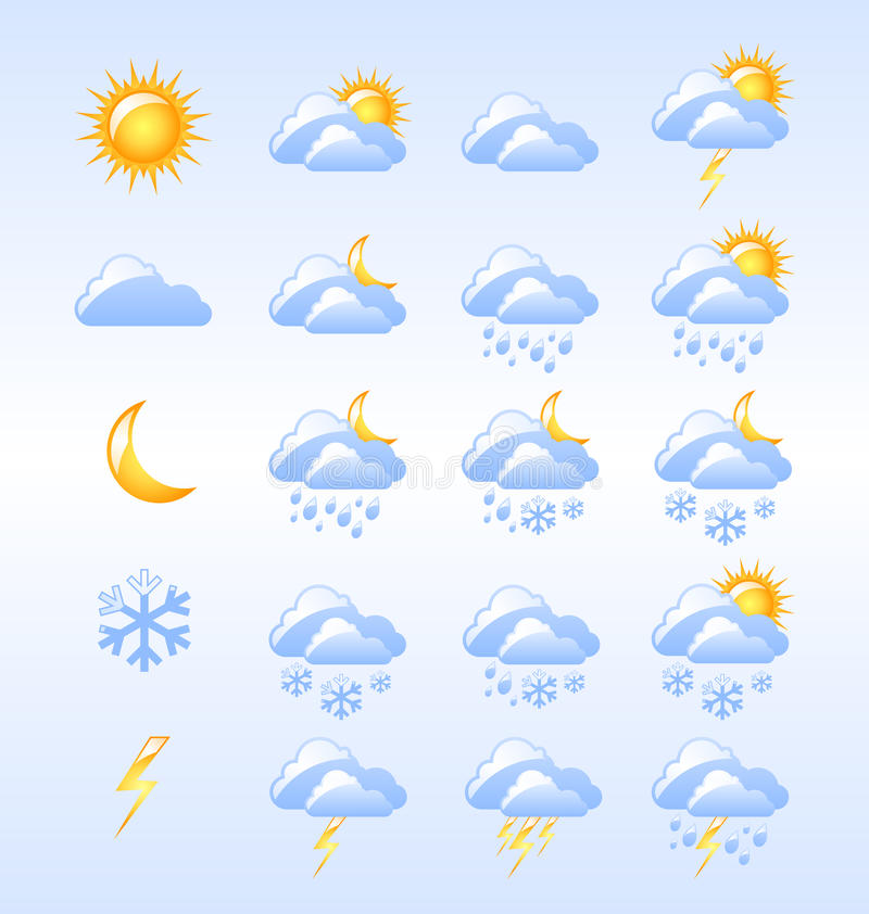 Download Weather Icons Royalty Free Stock Photography - Image: 22249737