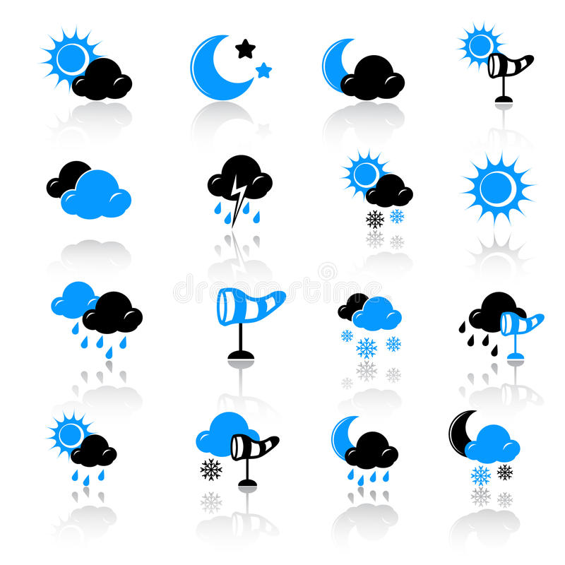 Download Weather icons stock vector. Illustration of rain, sunny - 22354643