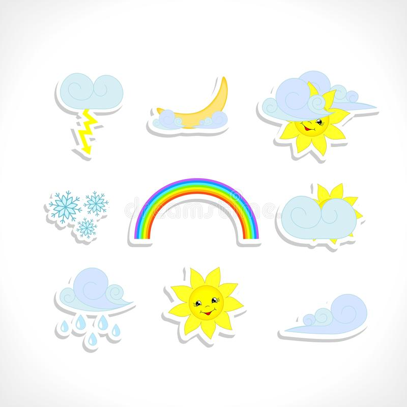 Download Weather icons stock vector. Image of infographics, clouds - 25773333