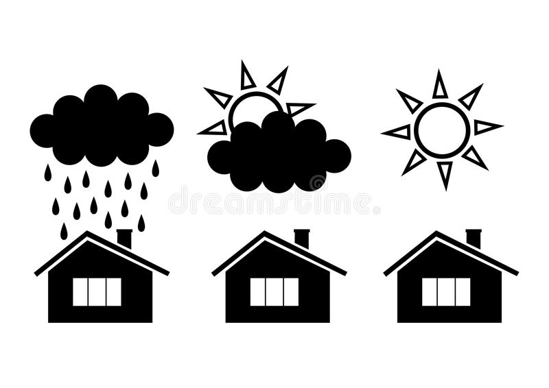 Download Weather icons stock vector. Image of cloud, house, residential - 26047671