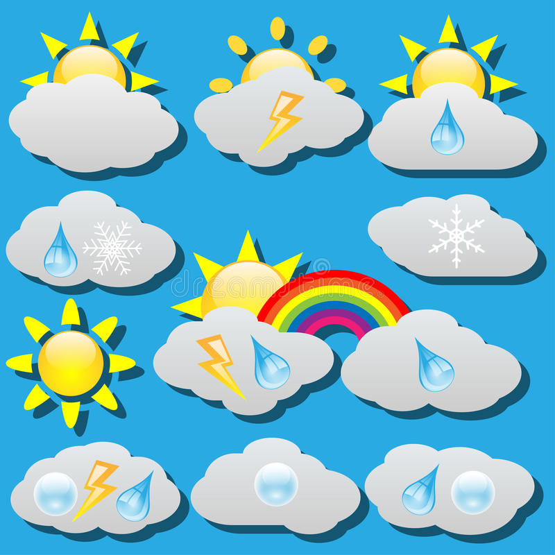 Download Weather icons stock vector. Image of hail, buttons, rain - 27123226