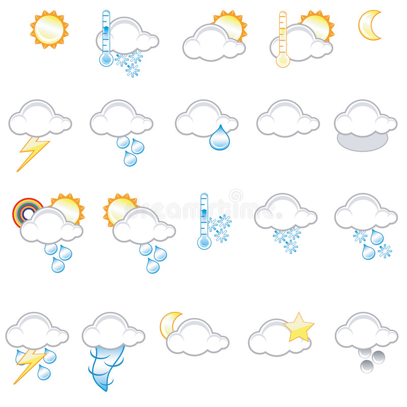 Download Weather icons stock illustration. Image of sleet, cloud - 2832855