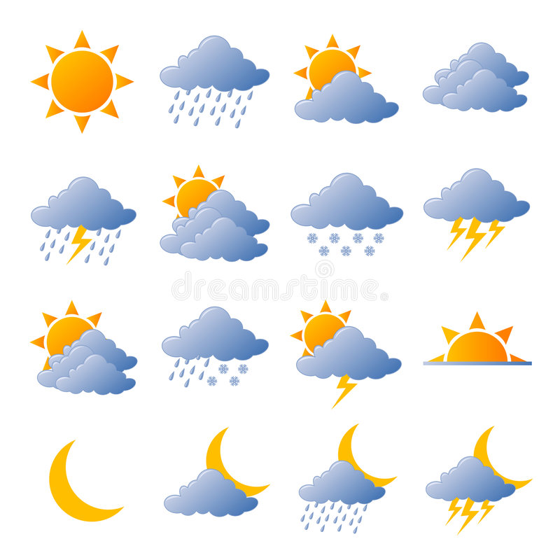 Free Weather Icons Royalty Free Stock Photos - 4936908