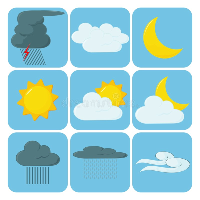 Free Weather Icons Royalty Free Stock Image - 5183726