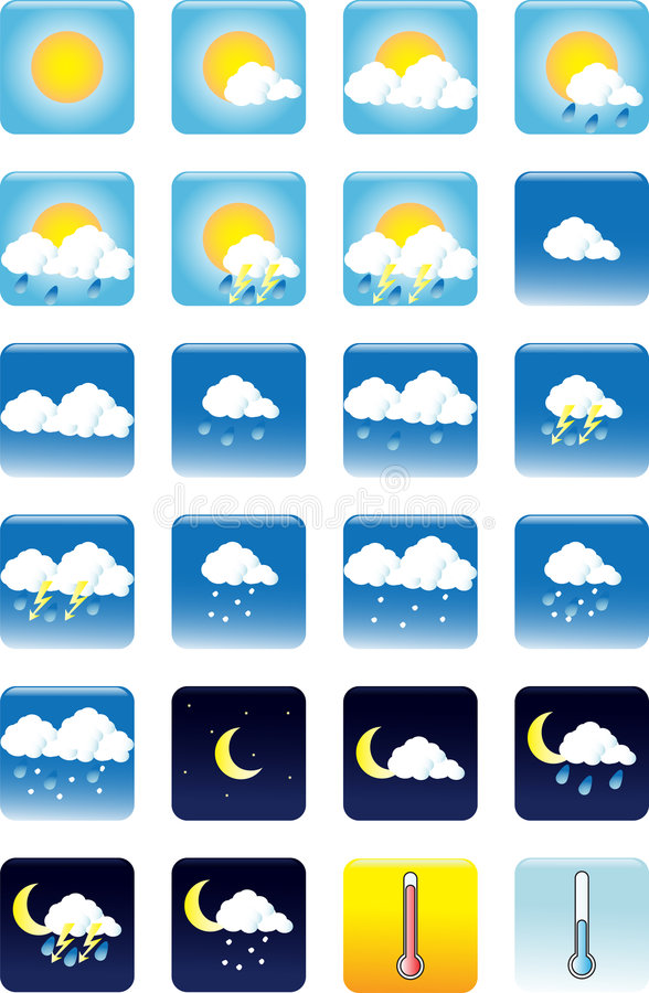 Free Weather Icons Stock Images - 5884204