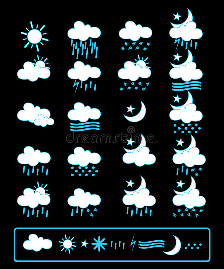 Download Weather icons stock illustration. Image of collection - 6427835