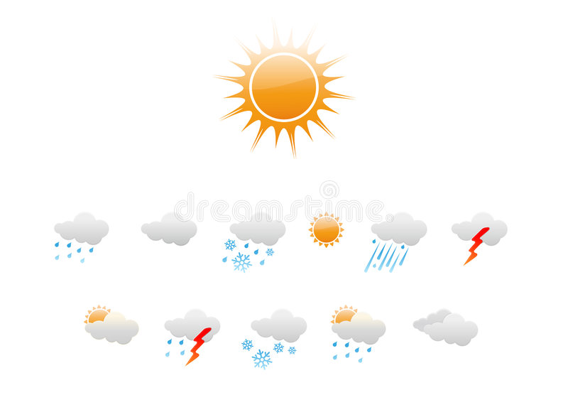 Download Weather Icons Royalty Free Stock Photography - Image: 7421747