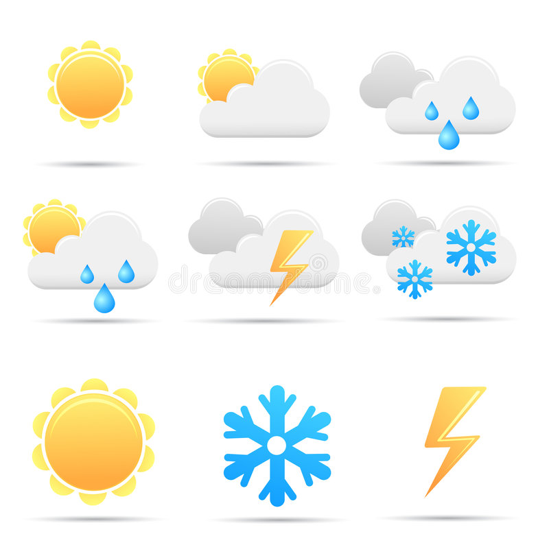 Free Weather Icons Royalty Free Stock Image - 8089466
