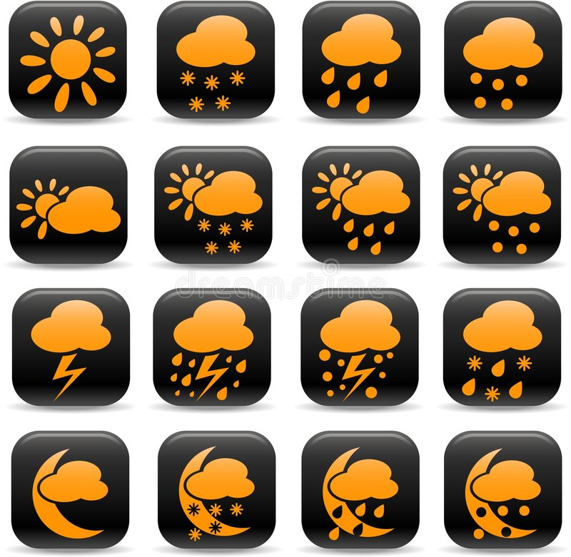 Download Weather icons stock vector. Image of forecast, illustration - 8680991