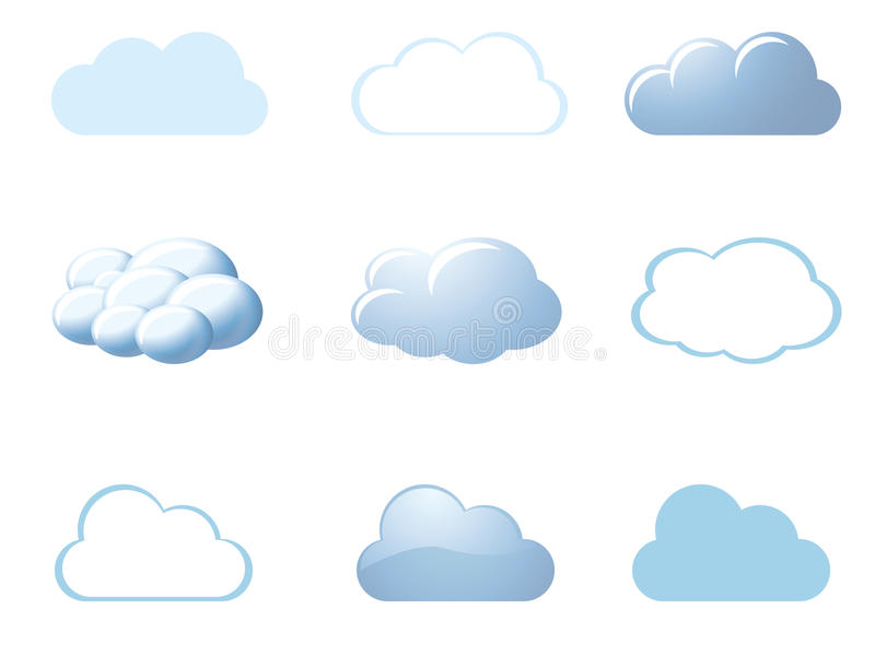Weather icons - clouds royalty free illustration