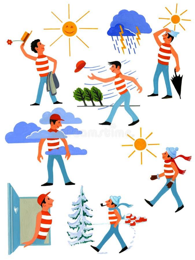 Weather Icons - nostalgic - Part 1 royalty free illustration