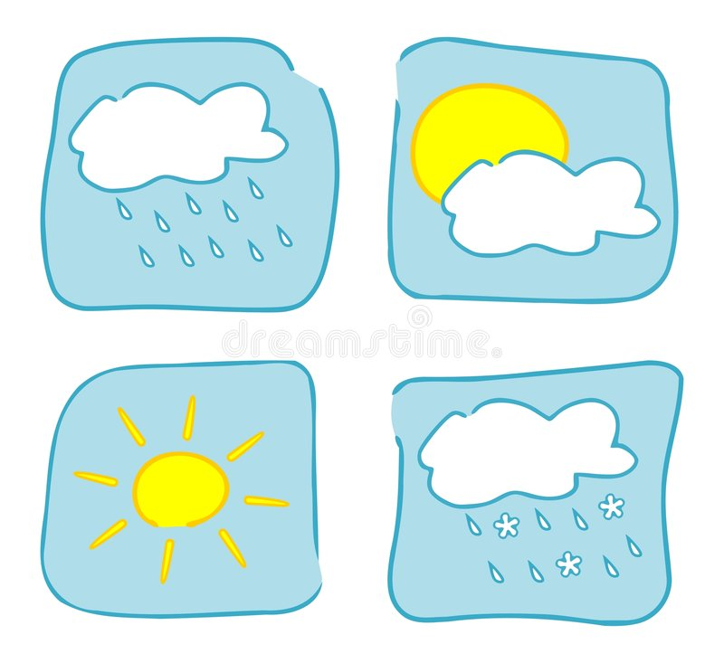 Weather Icons - Set 1. Royalty Free Stock Photography