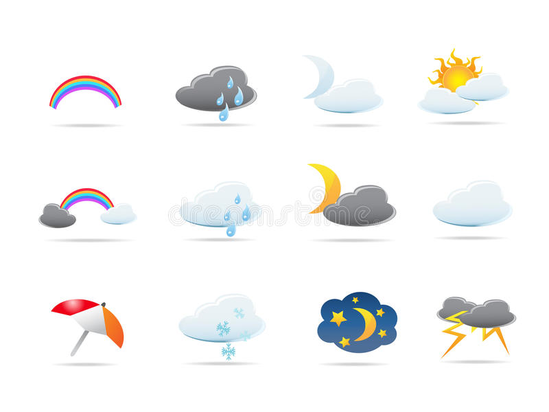 Download Weather icons set stock vector. Illustration of icons - 13627587