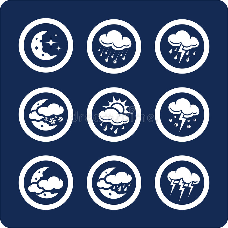 Free Weather Icons (set 7, Part 2) Stock Images - 433124