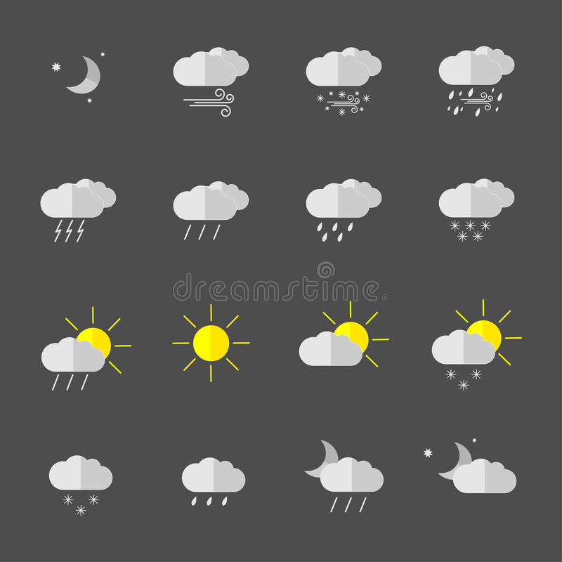 Download Weather Icons Stock Illustration - Image: 83712975