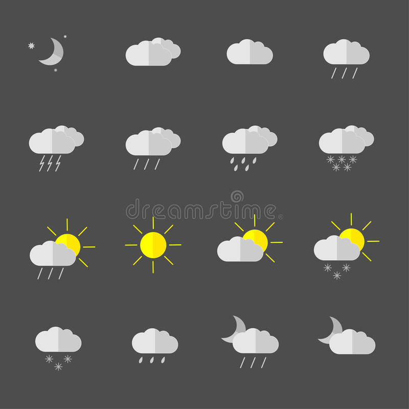 Download Weather Icons Stock Illustration - Image: 83713079