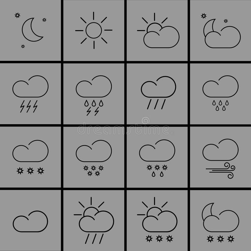 Download Weather Icons Stock Illustration - Image: 83714504