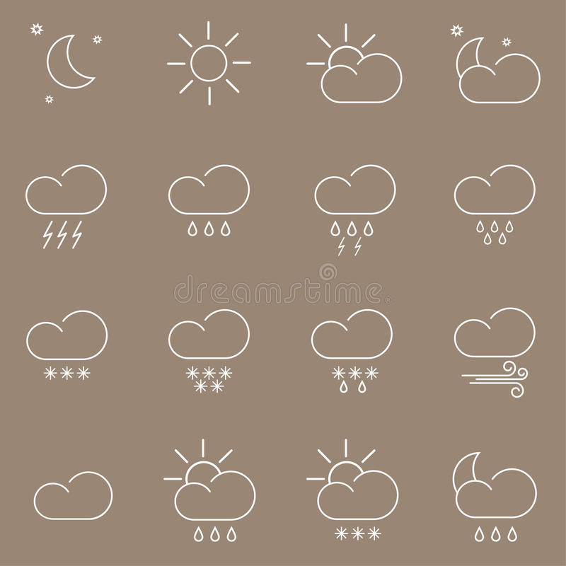 Download Weather icons stock illustration. Image of thunder, defmorph - 83714756