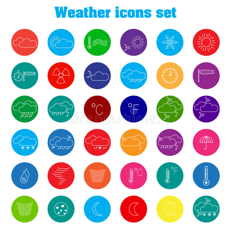 Download Weather icons stock vector. Illustration of storm, nature - 38884619