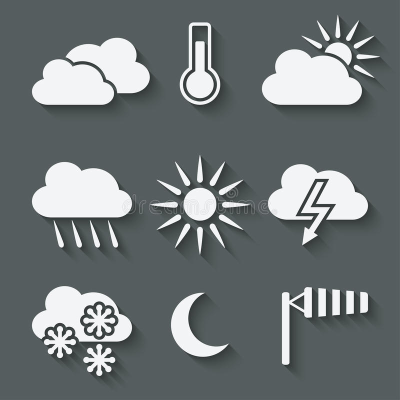 Download Weather icons set stock vector. Image of climate, season - 41483119
