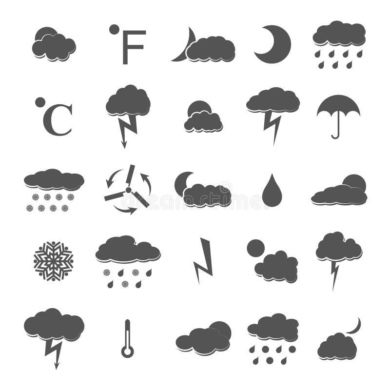 Weather icons, vector illustration. stock illustration