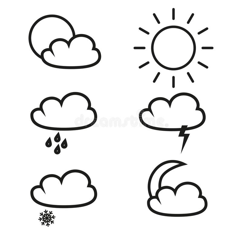 Weather of icons vector illustration